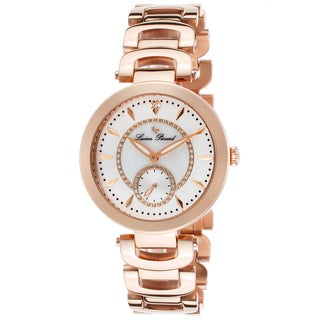 Lucien Piccard Casablanca Rose-Tone Steel White Mother of Pearl Watch