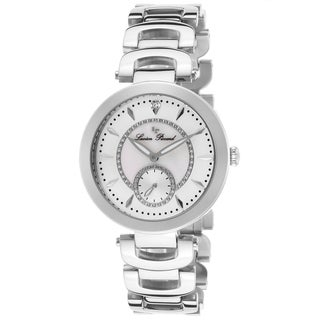 Lucien Piccard Casablanca Stainless Steel White Mother of Pearl Watch