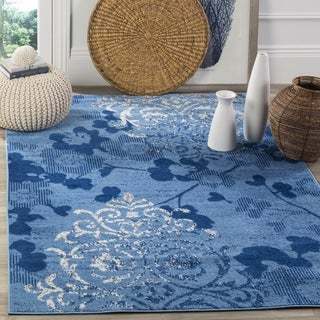 Safavieh Adirondack Vintage Damask Light Blue/ Dark Blue Large Area Rug (10' x 14')