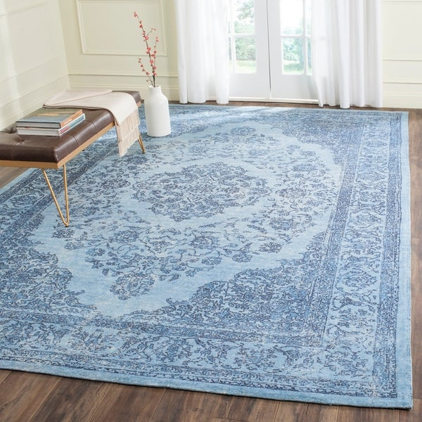 Safavieh Classic Vintage Overdyed Blue Cotton Distressed Rug - 9' x 12'