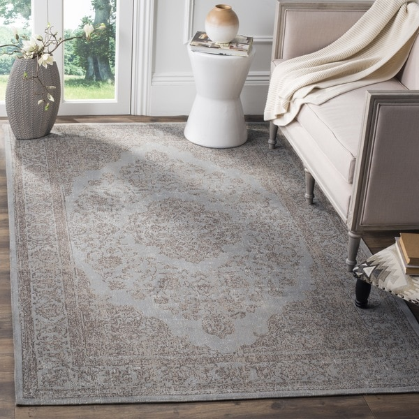 Safavieh Classic Vintage Grey Cotton Distressed Rug (8' x 10')