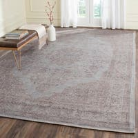 Safavieh Classic Vintage Grey Cotton Distressed Rug - 9' x 12'