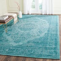 Safavieh Classic Vintage Overdyed Aqua Cotton Distressed Rug - 9' x 12'