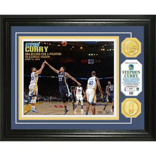 Stephen Curry Single Season 3 PT Record Bronze Coin Photo Mint