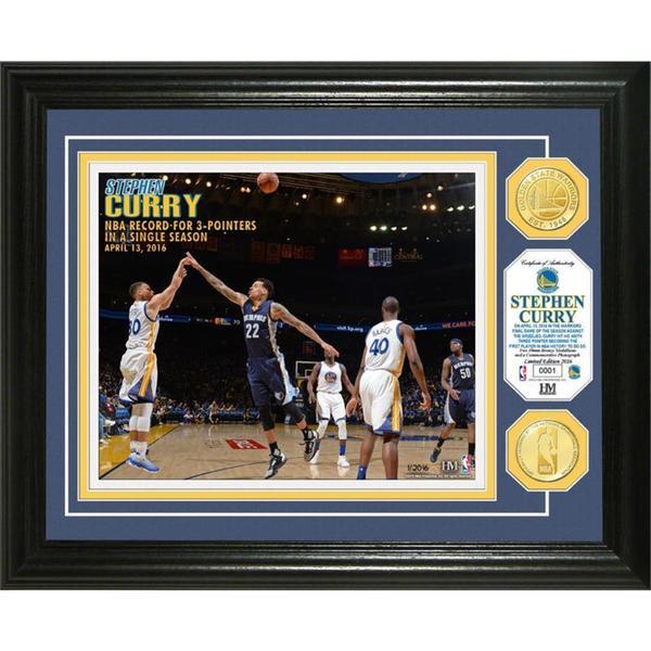 Stephen Curry Single Season 3 PT Record Bronze Coin Photo Mint