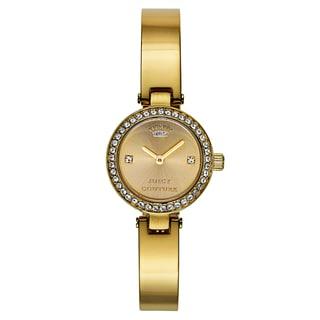 Juicy Couture Women's Goldtone Goldtone Japanese Quartz Watch