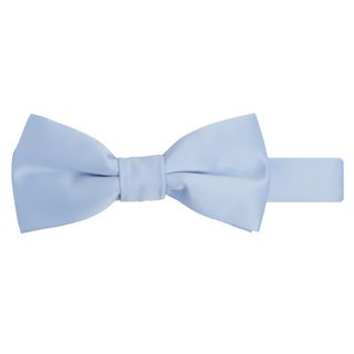 Jacob Alexander Boy's Solid Color Satin Finish Microfiber Pretied Banded Bowtie