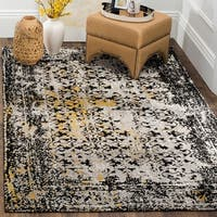 Safavieh Classic Vintage Black/ Silver Cotton Distressed Rug - 8' x 10'