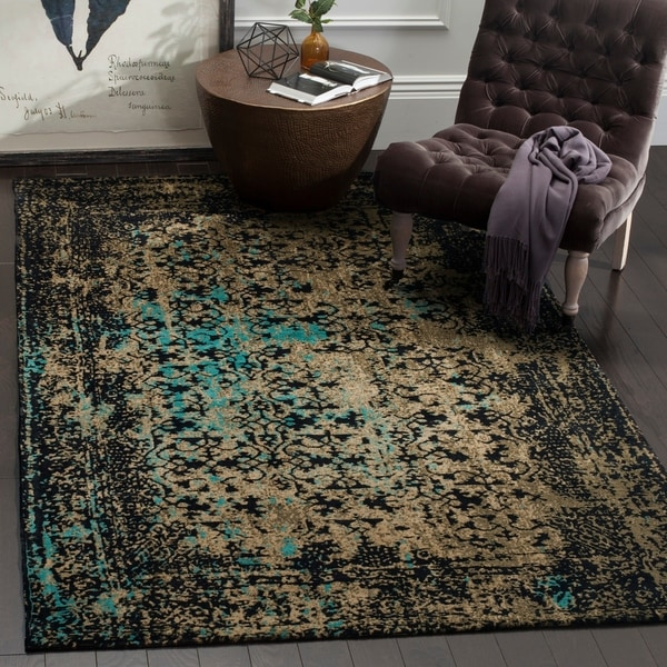 Safavieh Classic Vintage Black/ Olive Cotton Distressed Rug - 8' x 10'