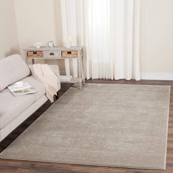 Safavieh Carnegie Vintage Light Beige/ Cream Distressed Rug - 9' x 12'