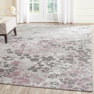 Safavieh Adirondack Vintage Floral Light Grey / Purple Rug (9' x 12')
