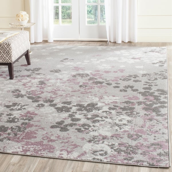 Safavieh Adirondack Vintage Floral Light Grey / Purple Rug - 9' x 12'