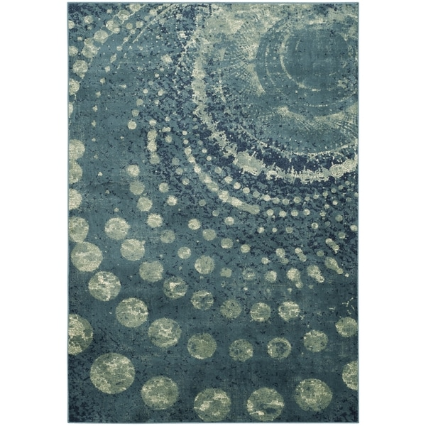 Safavieh Rag Rug Turquoise Multi 8 Ft X 10 Ft Area Rug: Shop Safavieh Constellation Vintage Turquoise/ Multi