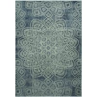 Safavieh Constellation Vintage Light Blue/ Multi Viscose Rug - 8'10 x 12'2