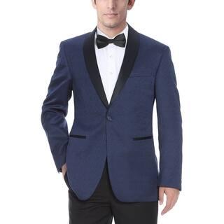 Verno Men's Shawl Collar Blue Textured Tuxedo Slim Fit Blazer|https://ak1.ostkcdn.com/images/products/11742884/P18660007.jpg?impolicy=medium