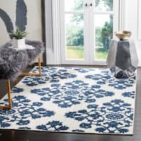 Safavieh Cottage Light Grey/ Royal Blue Rug - 9' x 12'