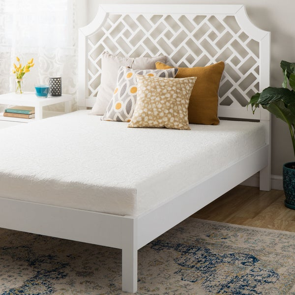 shop 8 inch short queen size memory foam mattress on sale free shipping today overstock. Black Bedroom Furniture Sets. Home Design Ideas