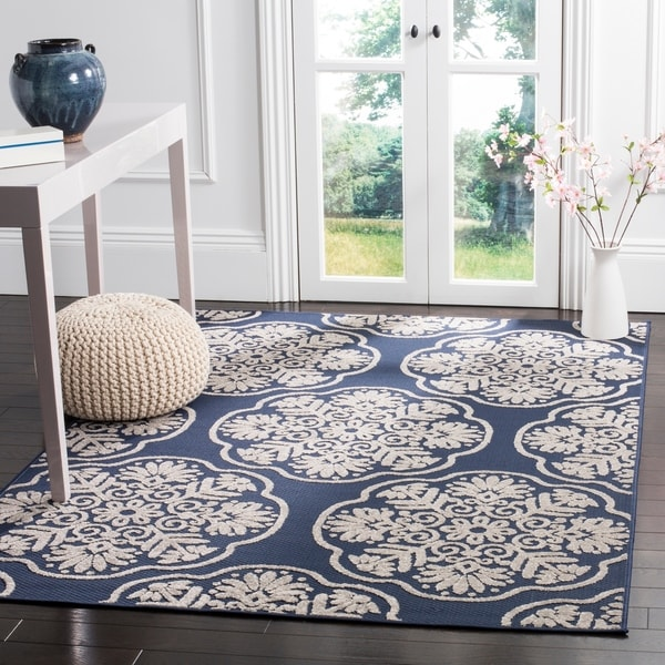 Safavieh Cottage Navy/ Cream Rug - 9' x 12'