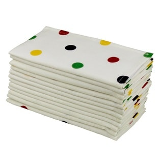 Celebration Colorful Dots 12 Piece Dinner Napkin Set