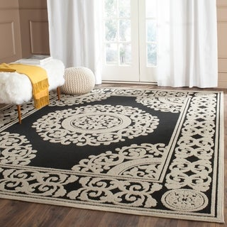 Safavieh Cottage Black/ Cream Rug (9' x 12')