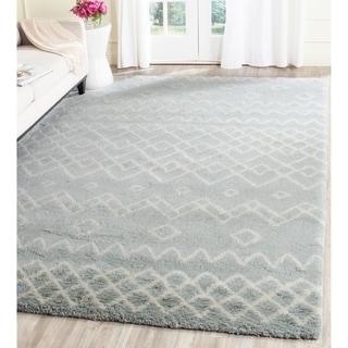 Safavieh Handmade Casablanca Blue/ Ivory Wool Rug (8' x 10')