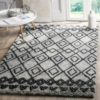 Safavieh Handmade Casablanca Grey/ Charcoal Wool Rug - 8' x 10'