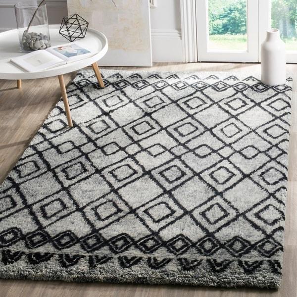 Safavieh Handmade Casablanca Grey/ Charcoal Wool Rug - 8' x 10'