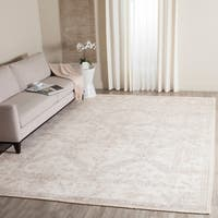 Safavieh Hand-knotted Maharaja Beige/ Blue Viscose Rug - 8' x 10'