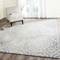 Safavieh Handmade Dip Dye Watercolor Vintage Grey/ Ivory Wool Rug - 10' x 14'