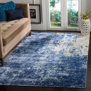 Safavieh Handmade Mirage Modern Watercolor Dark Blue Wool Rug (9' x 12')