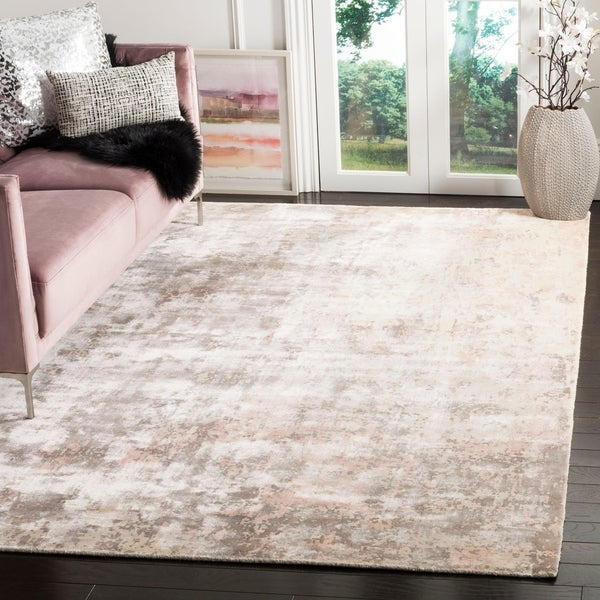 Safavieh Handmade Mirage Modern Watercolor Pink Viscose Rug - 8' x 10'