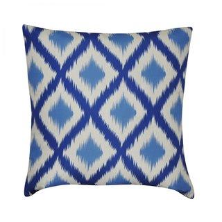 Loom and Mill 22-inch Ikat Diamonds Decorative Pillow
