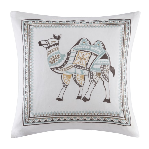Ink Ivy Dustin Embroidered Cotton Decorative Pillow Free
