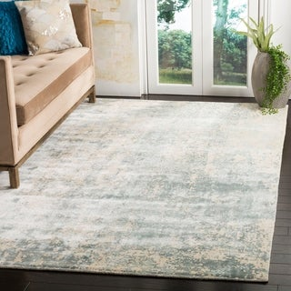 Safavieh Handmade Mirage Modern Watercolor Aqua Wool Rug (9' x 12')