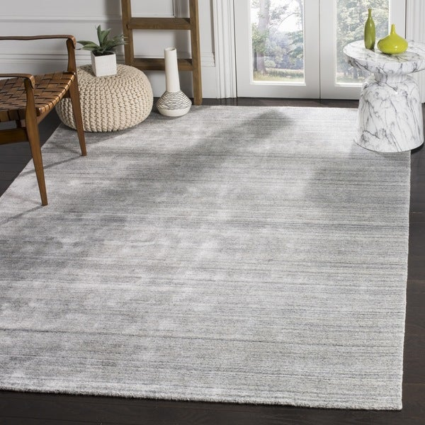 Safavieh Handmade Mirage Modern Ash Wool/ Viscose Area Rug (9' x 12')