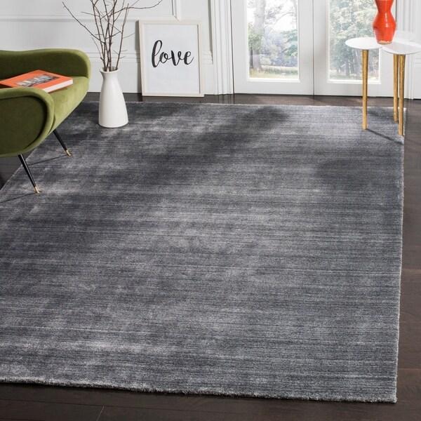Safavieh Handmade Mirage Modern Graphite Wool/ Viscose Rug - 8' x 10'