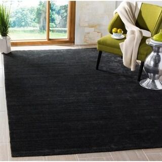 Safavieh Handmade Mirage Modern Anthracite Wool/ Viscose Rug (8' x 10')
