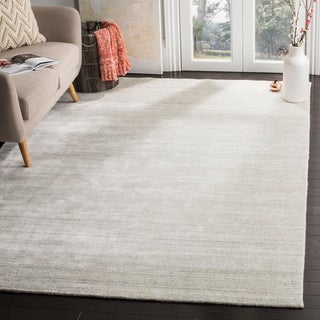 Safavieh Handmade Mirage Modern Silver Wool Rug (9' x 12')