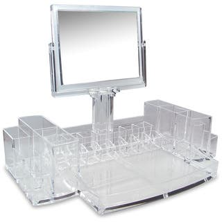 Ikee Design Luxury Cosmetic Make Up Organizer With Two-Sided Mirror|https://ak1.ostkcdn.com/images/products/11743098/P18660153.jpg?impolicy=medium