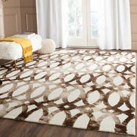Safavieh Handmade Dip Dye Watercolor Vintage Ivory/ Chocolate Wool Rug (9' x 12')