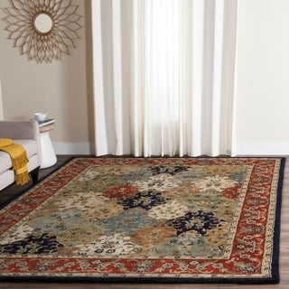 Safavieh Handmade English Manor Multi/ Red Wool Rug (8' x 10')