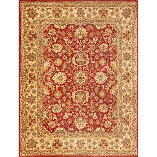 Safavieh Hand-tufted English Manor Red/ Beige Wool Rug (8' x 10')