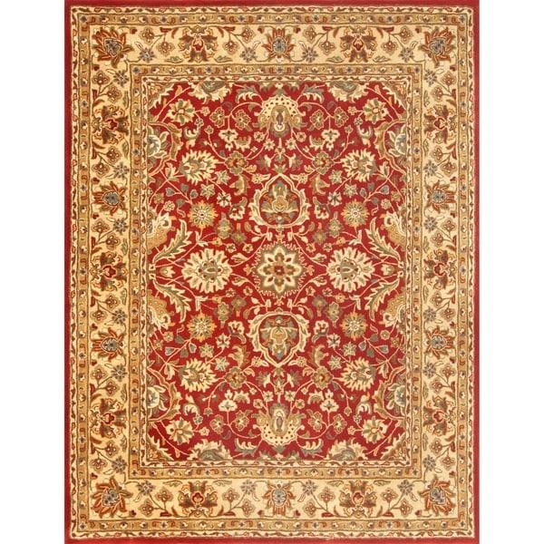 Shop Safavieh Hand-tufted English Manor Red/ Beige Wool