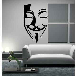 Masquerade mask face Wall Art Sticker Decal