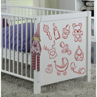 Kids toys baby Wall Art Sticker Decal Red