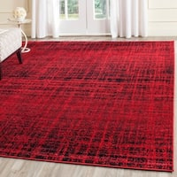 Safavieh Adirondack Modern Abstract Red/ Black Rug (8' x 10')