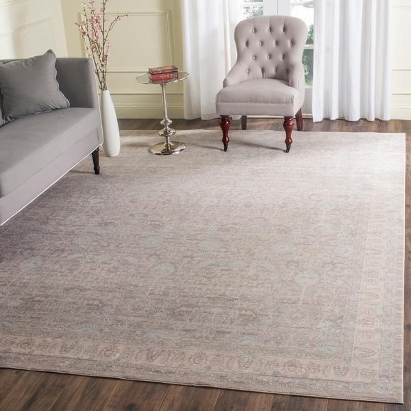 Safavieh Archive Vintage Grey/ Light Grey Distressed Rug - 9' x 12'