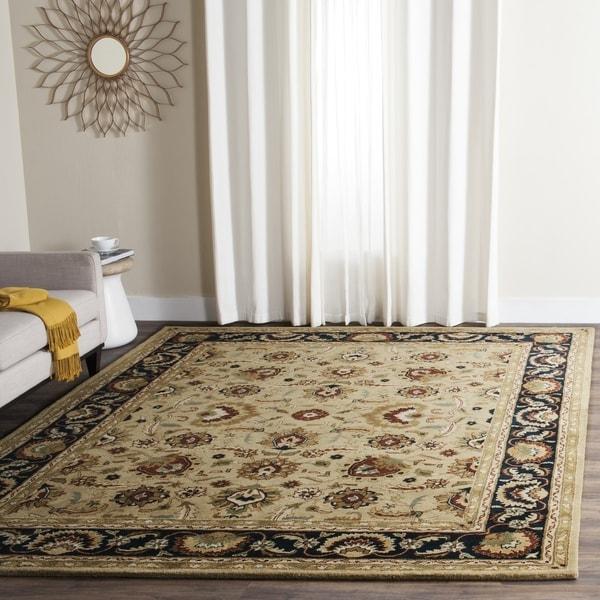 Safavieh Handmade English Manor Sage/ Navy Wool Rug - 8' x 10'
