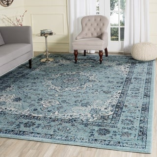 Safavieh Evoke Vintage Oriental Light and Dark Blue Distressed Rug (10' x 14')