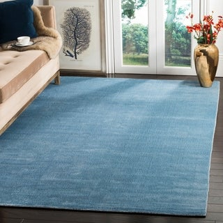 Safavieh Handmade Mirage Modern Dream Blue Wool Rug (9' x 12')